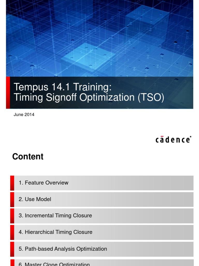 Tempus141_TSO_slides pdf   Program Optimization   Central