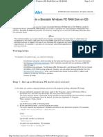 Create Bootable WinPE Ram Disk on CD-rom