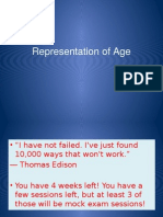 Representation of Age Newest