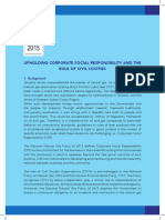 UPHOLDING CORPORATE SOCIAL RESPONSIBILITY AND THE ROLE OF CIVIL SOCIETIES