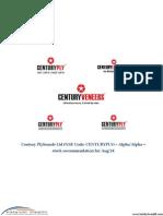 Century Plyboards Ltd (NSE Code - CENTURYPLY) - Aug14 Katalyst Wealth Alpha Recommendation