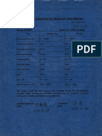 UT machine calibrationc certificate sample