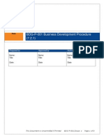 BDG P 001 Business Development Procedure