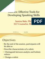 Rubrics for Developing Speaking Skills-libre