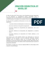 Programación Lomce 3º Ef