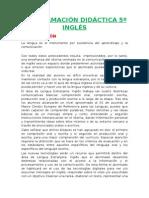 Programación Lomce 5º Inglés