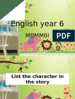 Be Kind Mbmmbi English Year 6