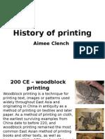 history of printing
