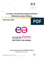 Le cahier mensuel des Emplois d'avenir - décembre 2014