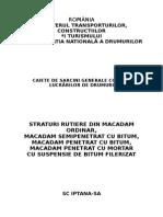 Caiet de Sarcini Straturi Rutiere Macadam