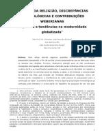 Estudos Da Religião, Discrepâncias Metodológicas e Contribuições Weberianas_Emerson Sena e Nina Rosas_2013
