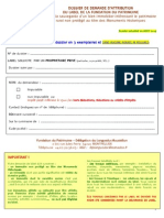 Particuliers Dossier Candidature