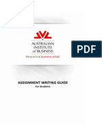 AIB Assignment Writing Guide for Students - V8Dec2013