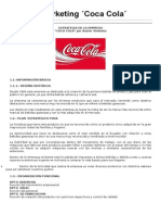 Plan de Marketing Coca Cola