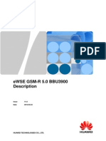 Railway Operational Communication Solution GSM-R 5.0 BBU3900 Description V1.0