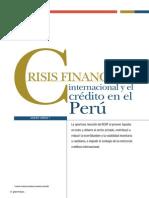 Crisis Financiera Internacional y El Credito en El Perú