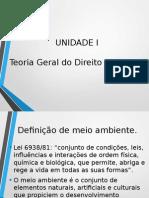 Unidade 1 Teoria Geral Do Direito Ambiental