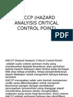 Haccp (Hazard Analyisis Critical Control Point)