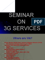 Seminar on 3G Services
