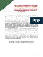 Noua Lege Oammr Ordonanta de urgenta nr. 144/2008 privind exercitarea profesiei de asistent medical generalist