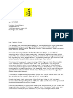 Letter to President Obama re Crown Prince of Abu Dhabi Visit