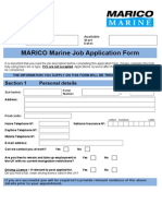 Job Application Form Template Word