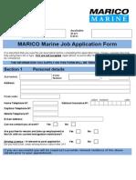Job Application Form Template Word