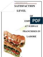 JOB SATISFACTION LEVEL OF EMPLOYEES AT SUBWAY FRANCHISES IN LAHORE, Pakistan