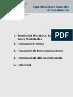 NORMAS DEL ISSSTE  Especif Grales de Construccion 1-5