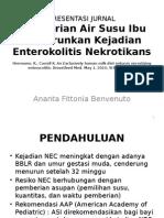 PRESENTASI JURNAL (ASI Mengurangi Kejadian NEC)