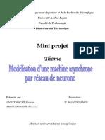 32784080 Modelisation d Une Machine Asynchrone Par Reseau de Neurone