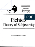 Fichte s Theory of Subjectivity