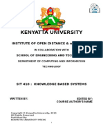 SIT 410 Knowledge Based Systems