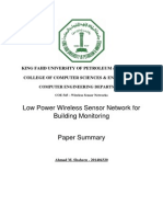 Low Power Wireless Sensor Network for Building Monitoring - Summary