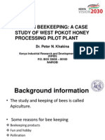 Modern Beekeeping a Case Study of West Pokot Honey Processing Pilot Plant