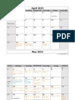 eoy conversations calendar