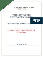 Plan de Investigacion Espoch 2014-2018 415b2