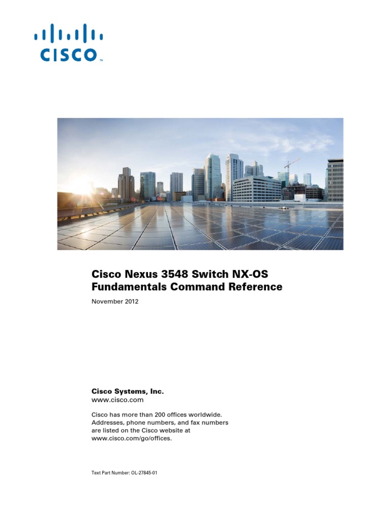 Cisco Nexus 3548 Switch | Command Line Interface | File Transfer