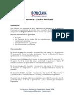 Barómetro Legislativo Anual 2014