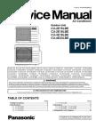 Panasonic Air Condicioner CU-2E15LBE Service Manual