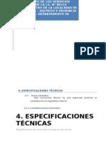 4.0. Especificaciones Tecnicas