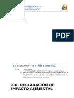 3.6. Estudio de Impacto Ambiental