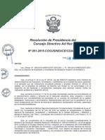 Resolución N°051-2015-COSUSINEACE-CDAH-P
