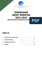 Ringkasan Draft Renstra Kemkominfo Tahun 2015--2019