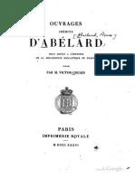 Ouvrages Inédits d'Abelard
