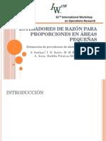 Estimadores de Razón Para Proporciones en Áreas Pequeñas