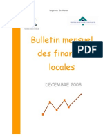 Bulletin Mensuel des Finances Locales Décembre 2008