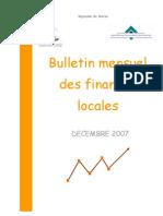 Bulletin Mensuel des Finances Locales Décembre 2007