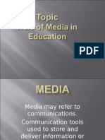 Role of media in education.ppt