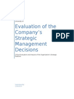 Strategic Management Decisions